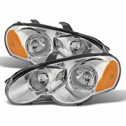 2003-2005 Chrysler Sebring Coupe Replacement Crystal Headlights - Chrome