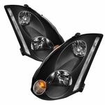 2003-2005 G35 Coupe [HID Model] OE-Style Reflector Headlights - Black