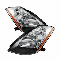 2003-2005 Nissan 350Z [HID Model] Factory Style Projector Headlights - Chrome