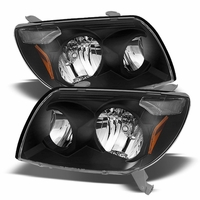 2003-2005 Toyota 4Runner Replacement Crystal Headlights - Black