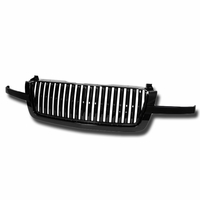 2003-2006 Chevy Avalanche / Silverado Vertical Badge-less Front Grill Grille - Black