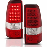 2003-2006 Chevy Silverado 1500 / 2500 & HD Performance LED Tail Lights - Red / Clear