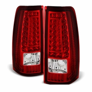 2003-2006 Chevy Silverado / GMC Sierra Performance LED Tail Lights - Red Clear