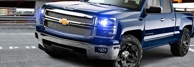 2003-2006 Chevy Silverado Angel Eye Halo & LED Projector ... on