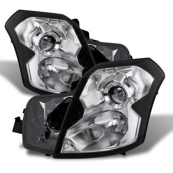 2003-2007 Cadillac CTS [Halogen Model Only] Projector Headlights - Chrome