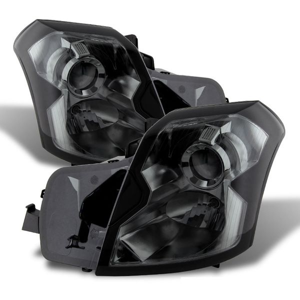 2003-2007 Cadillac CTS [Halogen Model Only] Projector Headlights - Smoked