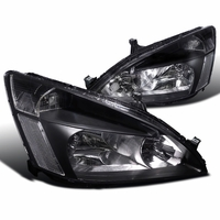 Spyder 2003-2007 Honda Accord 2/4 Door JDM Style Crystal Headlights - Black