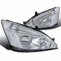 Spyder 2003-2007 Honda Accord 2/4 Door JDM Style Crystal Headlights - Chrome