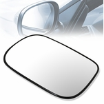 2003-2007 Honda Accord OE Style Left Side View Heated Mirror Glass w/Plate