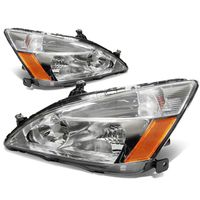 DNA 2003-2007 Honda Accord Replacement Crystal Headlights - Chrome