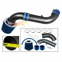 2003-2010 Dodge Dakota Short Ram Intake Black Pipe With Blue Kit