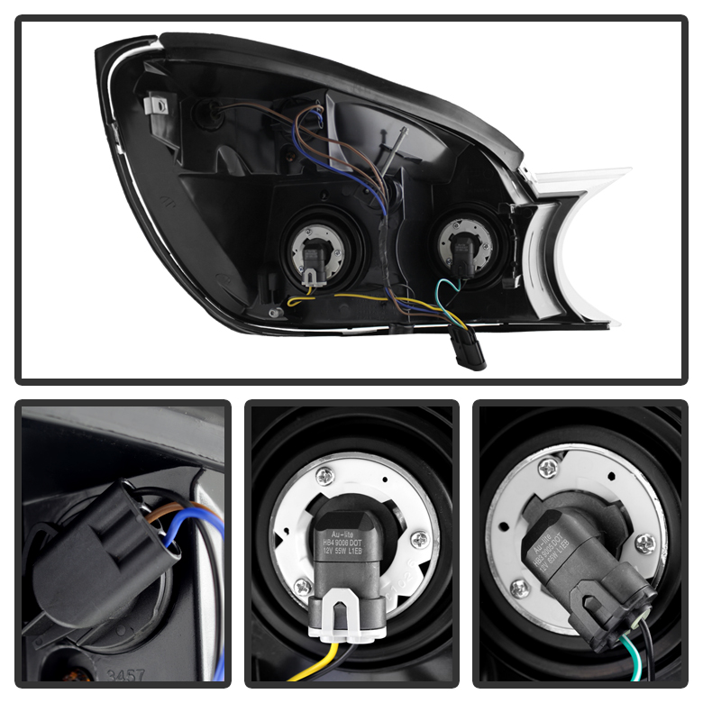 2004-2005 Buick Rendezvous Replacement Crystal Headlights
