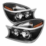 2004-2005 Buick Rendezvous Replacement Crystal Headlights - Black