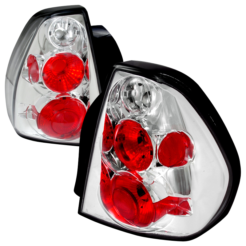 2004 2007 Chevy Malibu Euro Altezza Tail Lights Chrome Click To Enlarge
