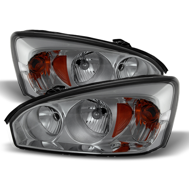2004 2008 Chevy Malibu Replacement Crystal Headlights Smoked Click To Enlarge