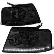 2004-2008 Ford F150 / Lincoln Mark LT LED DRL Headlights - Smoked Clear