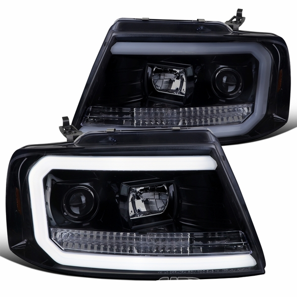 2004-2008 Ford F150 Optic-Tube Projector Headlights - Smoked