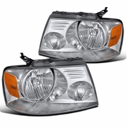 2004-2008 Ford F150 Pickup Crystal Headlights - Chrome