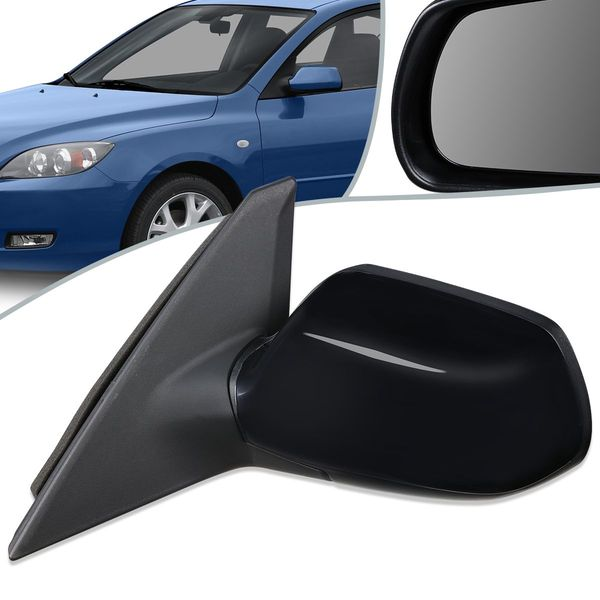 04-09 Mazda 3 OE Style Powered Side Rear View Door Mirror Left/LH MA1320142