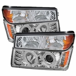2004-2012 Chevy Colorado / GMC Canyon Angel Eye Halo & LED Projector Headlights - Chrome