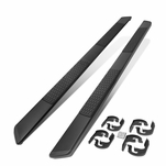 2004-2014 Ford F-150 Pickup Crew Cab SS 5-inch OD Black Step Nerf Bar Running Boards
