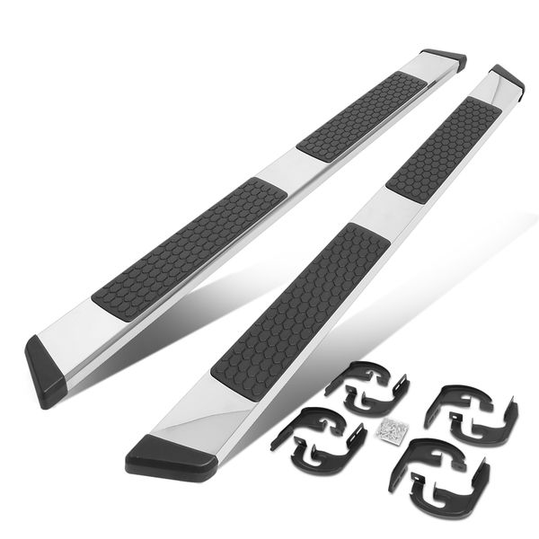 2004-2014 Ford F-150 Pickup Crew Cab SS 5-inch OD Chrome Step Nerf Bar Running Boards