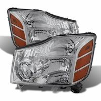 2004-2014 Nissan Titan / Armada Replacement Crystal Headlights - Chrome