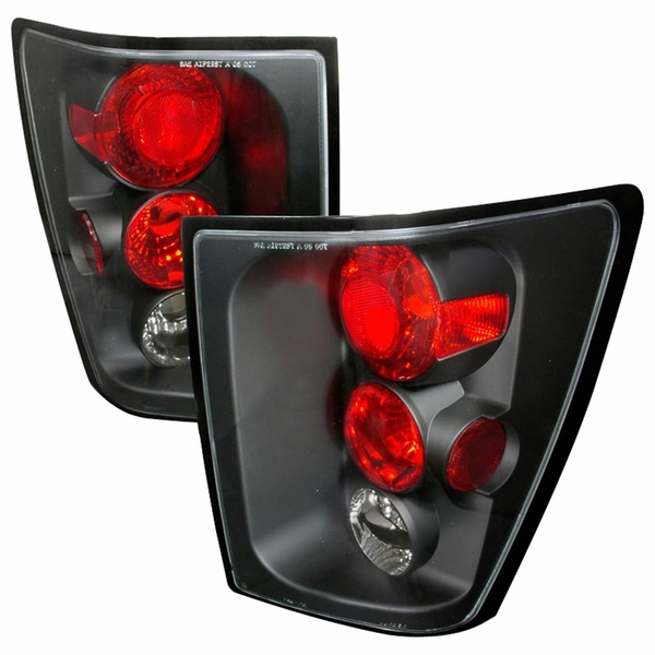 2005-2006 Jeep Grand Cherokee Euro Style Altezza Tail Lights - Black