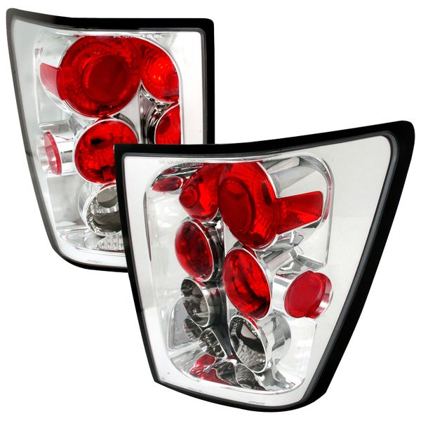 2005-2006 Jeep Grand Cherokee Euro Style Altezza Tail Lights - Chrome