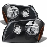 2005-2007 Dodge Magnum Replacement Crystal Headlights - Black