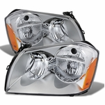 2005-2007 Dodge Magnum Replacement Crystal Headlights - Chrome
