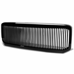 2005-2007 Ford Superduty Pickup Vertical Fence Style Front Hood Grill - Black