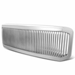 05-07 Ford F250 F350 Super Duty Vertical 1Pc Grille Grill - Silver