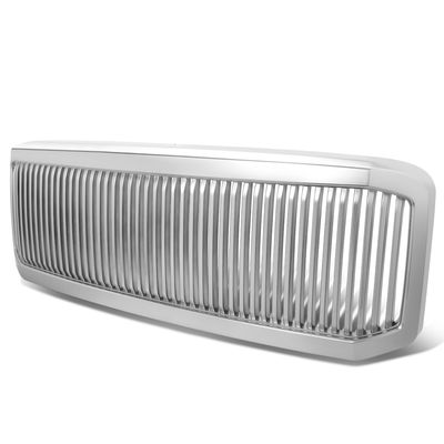 05-07 Ford F250 F350 Super Duty Vertical 1Pc Grille Grill - Chrome