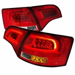 2005-2008 Audi A4 B7 Avant [5-Door Wagon] Performance LED Tail Lights - Red Clear