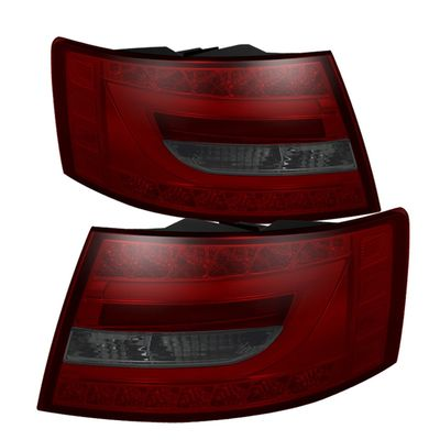 2005-2008 Audi A6 / S6 Performance LED Neon Tube Tail Lights - Red Smoked