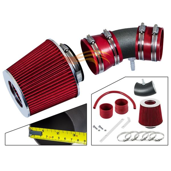 2005-2008 Chevy Equinox Short Ram Intake Black Pipe With Red Kit