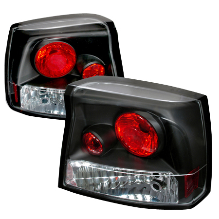 2006-2008 Dodge Charger R/T Rear Tail Lights - Black