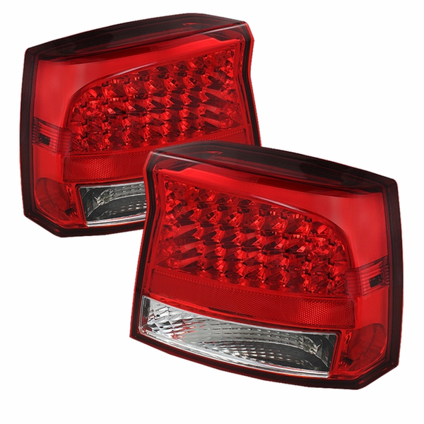 2005-2008 Dodge Charger Performance LED Tail Lights - Red Clear