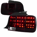 2005-2009 Ford Mustang [Sequential Turn Signal] LED Tail Lights - Red Smoked