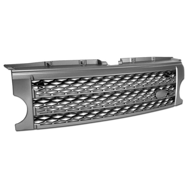 2005-2009 Land Rover LR3 Discovery 3 Honeycomb Mesh Front Bumper Grille - Gray