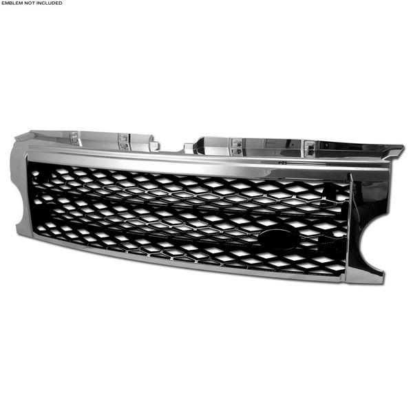 2005-2009 Land Rover LR3 Discovery 3 Honeycomb Mesh Front Grille - Chrome/Black