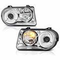 2005-2010 Chrysler 300C Replacement Projector Headlights - Chrome