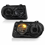 2005-2010 Chrysler 300C Replacement Projector Headlights - Smoked