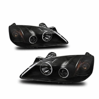2005-2010 Pontiac G6 CCFL Angel Eye Halo & LED Projector Headlights - Black