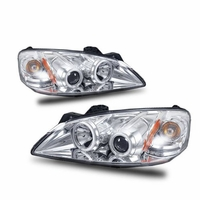 2005-2010 Pontiac G6 CCFL Angel Eye Halo & LED Projector Headlights - Chrome