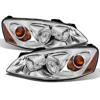 2005-2010 Pontiac G6 Replacement Crystal Headlights OE Style - Chrome