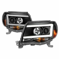 2005-2011 Toyota Tacoma DRL Tube Projector Headlights - Black