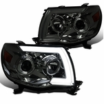 2005-2011 Toyota Tacoma LED Sequential Signal Projector Headlights - Smoked