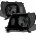 2005-2011 Toyota Tacoma Replacement Headlights - Black Smoked